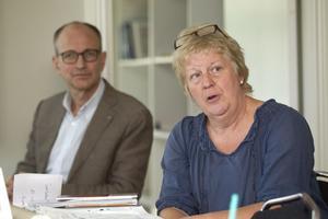 Förvaltningschefen Frank Stoor och grundskolechefen Eva Levin.
