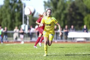Sanna Signeul, tvåmålsskytt mot Huge.