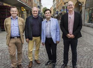 Pär Löstrand (L), Lars–Erik OLofsson, (KD) Pär Jönsson (M) och Bosse Svensson (C).