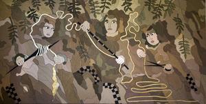 Textilkonstnär Kicki Jeschke är en av många som visat sina verk på Textilarkivet i Sollefteå.