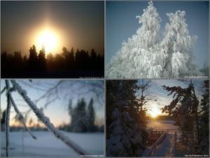 Blandat med soluppgång och solnedgång