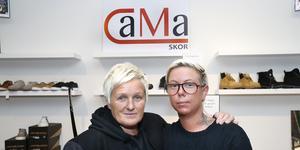 Nettan Magnusson och Jessica Carstad på Cama skor.