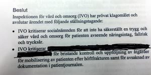 IVO-kritik mot  Härjedalens kommun och mot  personal.