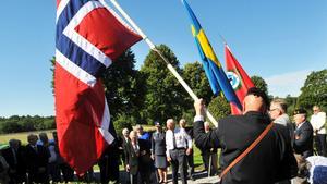 Norska krigsveteraner hedrade Harry Söderman vid Turinge kyrka i i Nykvarn i helgen.