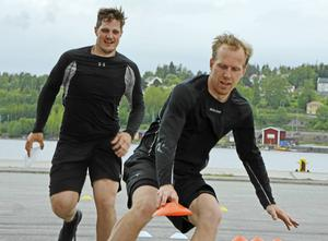 Ifjol körde Tobias Ericsson barmarksträning med bland andra Patrik Karlkvist, i år sköter han den själv.