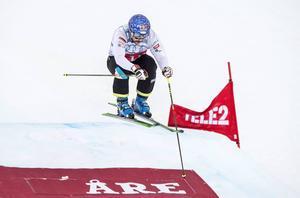 Världsmästaren Filip Flisar, Slovenien, var tvåa i fredagens kval inför lördagens världscup i Åre.
