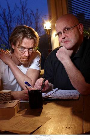 Börge Hellström och Anders Roslund har skrivit sommarens bästa kriminalroman enligt Svenska Deckarakademins K Arne Blom. Foto: Peter Knutson