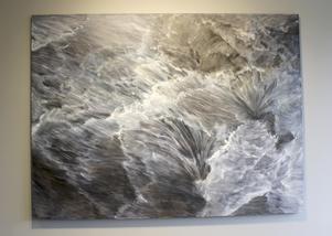 """mardröm. I målningen """"Night Mare"""" skummar vattnet."""