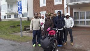 Flera flyktingar på Norrbygården i Fagersta hungerstrejkar sedan i måndags morse.