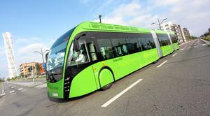 Den här BRT-bussen lanserades i Malmö för några år sedan.