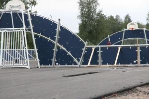 Celsius multisportarena håller på att bli klar. Enligt planerna ska skateboardparken (närmast i bild) bli färdig denna vecka och nästa kommer konstgräset.