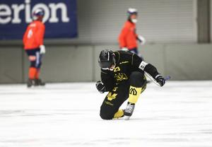 Johan Löfstedt jublar i svenska cupen på försäsongen.