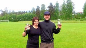 Vinnare. Dagens starkaste man och kvinna blev precis som år 2010 Maria Larsson och Tobias Ekshagen. BILD: PRIVAT