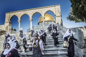Trappa till Tempelberget, Jerusalem.