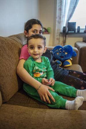 Abdullah Mohammad med Rihab Al-hanon.