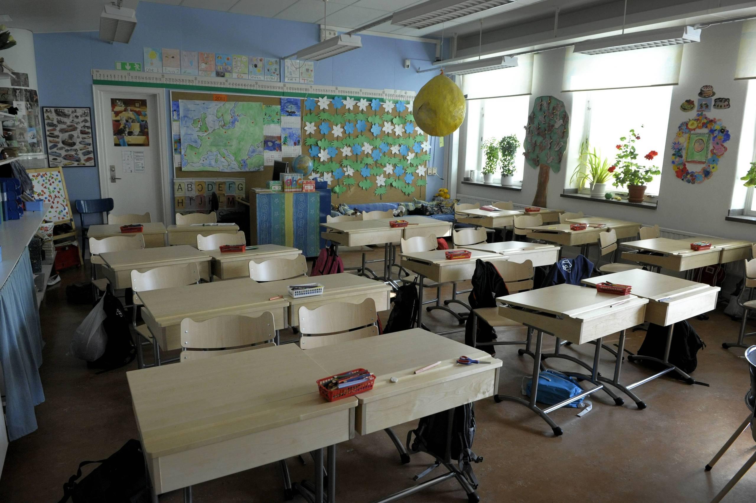 Nol klassrum forstorda i brand