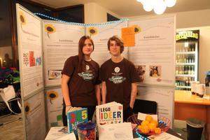 Nellie Bylund och Mattias Sjödin från Kastellskolan i Härnösand vill hjälpa äldre deprimerade människor genom olika aktiviteter.