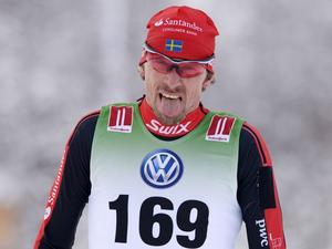 Johan Olsson vann herrarnas 15 km vid skidpremiären i Bruksvallarna tidigare i år. Arkivbild.