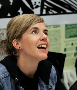 Annika Norlin gjorde flera framträdanden vid bokmässan i Göteborg och publikintresset var mycket stort