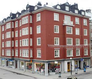 Hirschfeldtska huset längst ner på Storgatan.