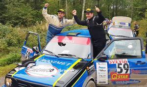 Christian Segerström och Martin Lundquist tog SM-guld med en Golf II från 1987.