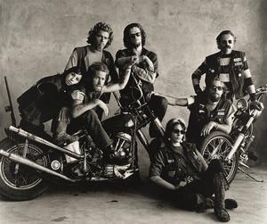 Hell Angels, San Francisco, 1967. Pressbild. Fotograf: Irving Penn