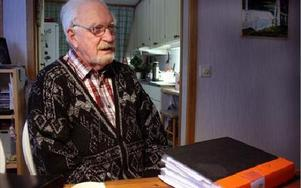 Erik Wanfors har kämpat i många är för att boken om Vansbro historia ska komma i tryck.FOTO:LEIF OLSSON