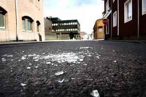 Knivskärningen inträffade på Kristinegatan - strax intill Arbetsförmedlingen och polishuset. Foto: Lars Dafgård