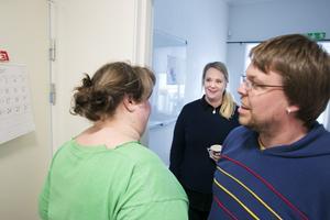 Rundvandring i lokalerna, Jessica Persson visr sitt kontor för Elin Leidstedt och Hans-Erik Bergström.