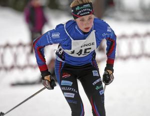 Frida Karlsson från Sollefteå Skidor kom tia i fem kilometer vid Nordiska landskampen i Estland.    Foto: JONNY DAHLGREN/ARKIV