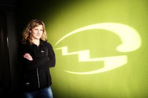 Aana-Karin Tyskhagen chef och delägare i företaget hon driver tillsammans med sin man Jörgen Tyskhagen.