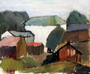 Oljemålning av Tryggve Örn, daterad 1951.
