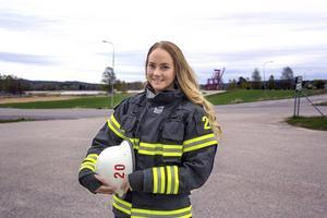 Frida Karlsson är brandman.