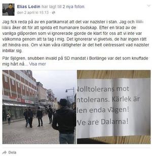 Elias Lodins Facebookstatus