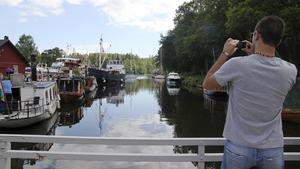 Det brukar komma många gästande båtar till kanalens dag. På lördag är det dags igen. Arkivfoto: Rose-Marie Fasth.