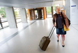 Monalisa Norrman på väg till Bryssel där hon ska rapportera om biologiskt avfall på en konferens kring avfallsfrågor.