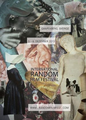 Ett utkast till affischen som ska locka besökare till International Random Film Festival i Garpenberg.