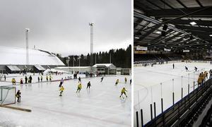 Isarna på Gärdehovsområdet är populära och nu hoppas klubbarna som bedriver sin verksamhet på området att kommunen ska kunna ordna fler istider.