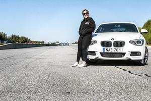 Matilda Svensson trivs bäst när hon får vara på en motorbana.
