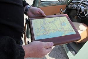 PVn som vann bruksbilsklassen var utrustad med den här kartrullaren, som ägaren kallar Gps.