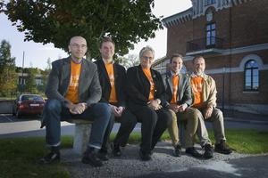 Sven Bergström (C), Hans BackmN (Fp), Magareta B Kjellin (M), Tomas Tobé (M) och Kent Sjöberg (Kd) presenterade planerna på en gemensam riksdagsmotion om att göra Söderhamn till vindkraftscentrum.