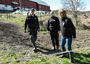 Rogsta gårds Nils Henrik Eriksson, tillsammans med Jenny Sjöström och Åsa Eriksson.