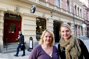Åsa Aronsson och Marlene R Eng driver varsin butik på Nybrogatan i Sundsvall.