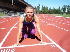 Nikki Sjöberg, sprinter Bollnäs FIK, friidrott