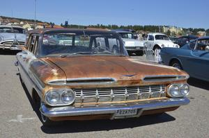 En del bilar hade lite, eller mycket, charmig patina.