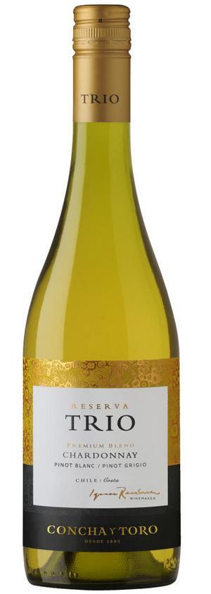 Trio Chardonnay Pinot Blanc Pinot Grigio 2016.