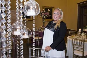 Janet Robertson från Scarlett Weddings ville inspirera med sina bröllopsdekorer.