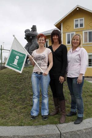 Ann-Sofie Mickelsson, Sigrid Mattsson och Victoria Jonsson kommer att arbeta tillsammans på turistbyrån.