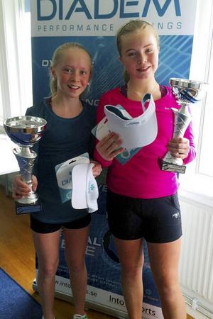Emelie Westin och Tilde Strömqvist, två framgångsrika talanger från Sundsvalls Tennisklubb.