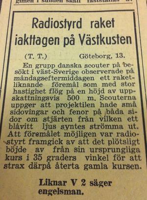 Sommaren 1946 var tidningarna i Sverige och länet fulla av notiser om mystiska ljussken och raketer. Medierna döpte snabbt fenomenen till